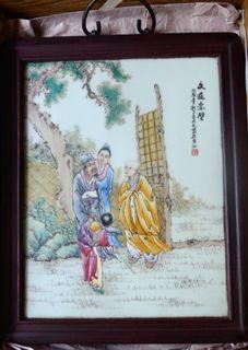 珠山八友王大凡三国故事瓷板