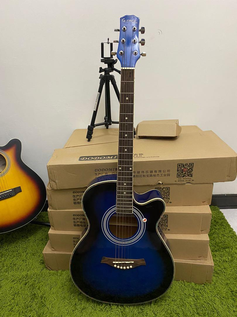 民謠吉他  藍色 39吋 保存良好