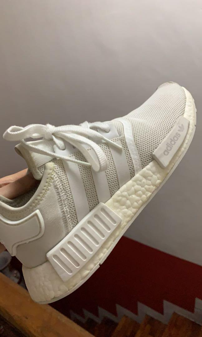 Adidas NMD R1 white size 7 US