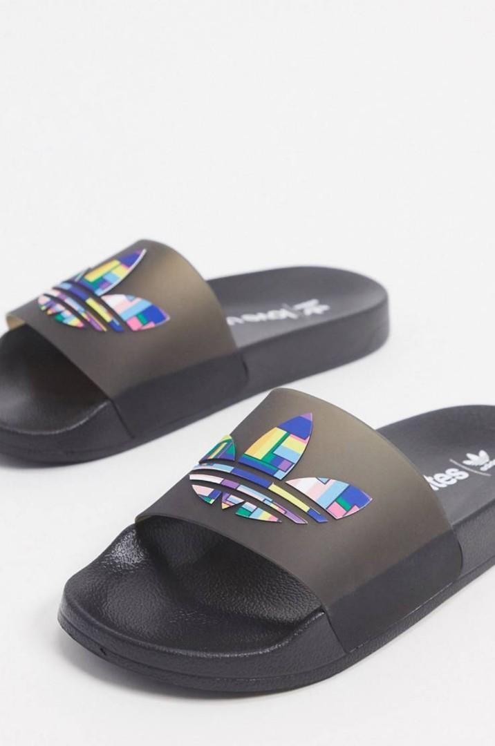 Adidas originals pride adilette sliders