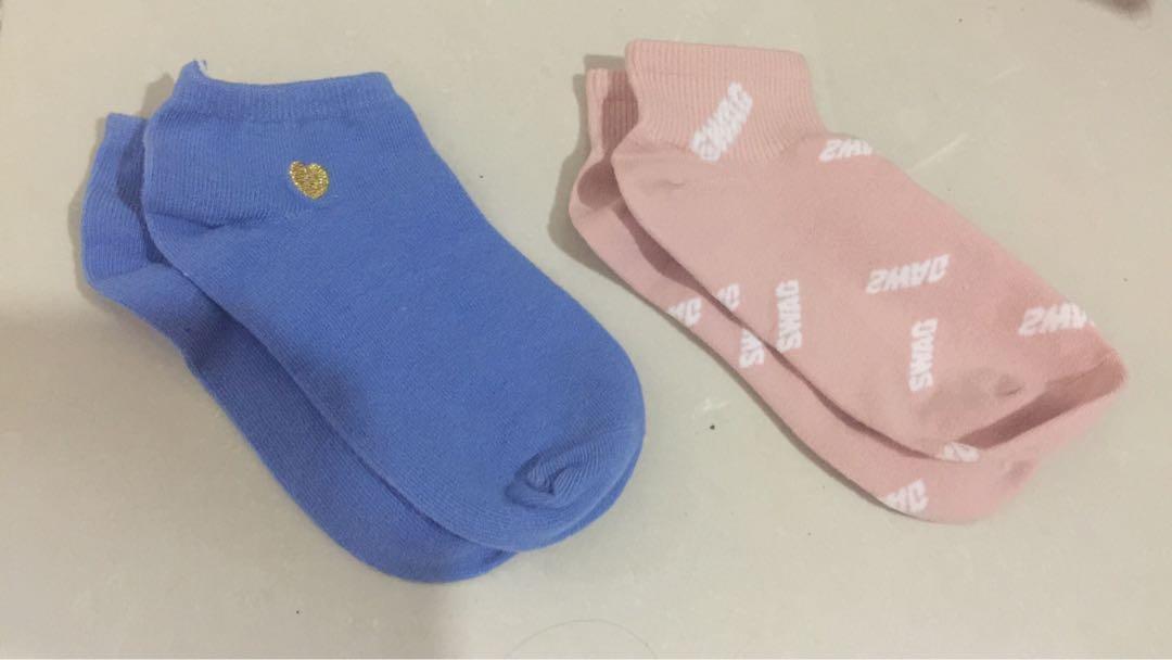 Ankle Socks - pink n baby blue, Babies