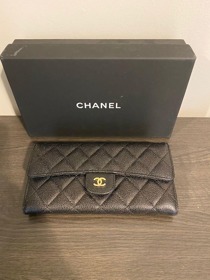 Authentic Chanel Long Flap Wallet