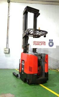 CERTIFIED USED (Silver) Toyota Raymond Reach Fork 1450 kg 1.4 tons Reach Truck