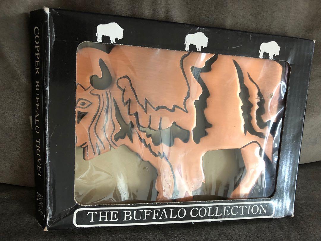 Copper buffalo trivet