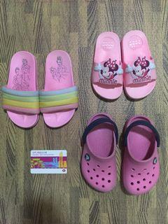 全5對$110Crocs便鞋女童小童拖鞋體操技術鞋迪士尼公主米妮圖案Nike 運動鞋粉紅色全要$110