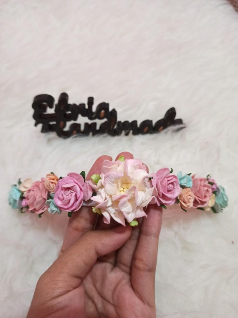 Flower Crown Baby Headband Nylon USA