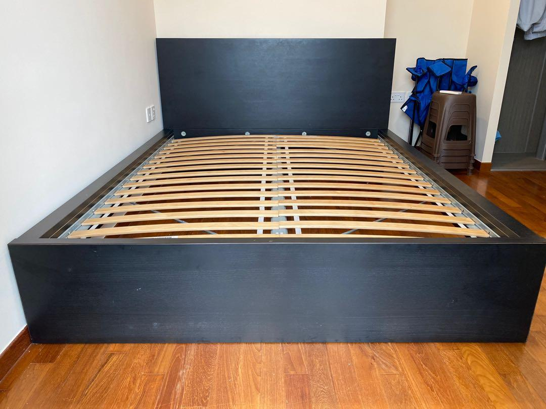 Ikea Malm Bed Frame Black Queen Furniture Beds Mattresses On Carousell