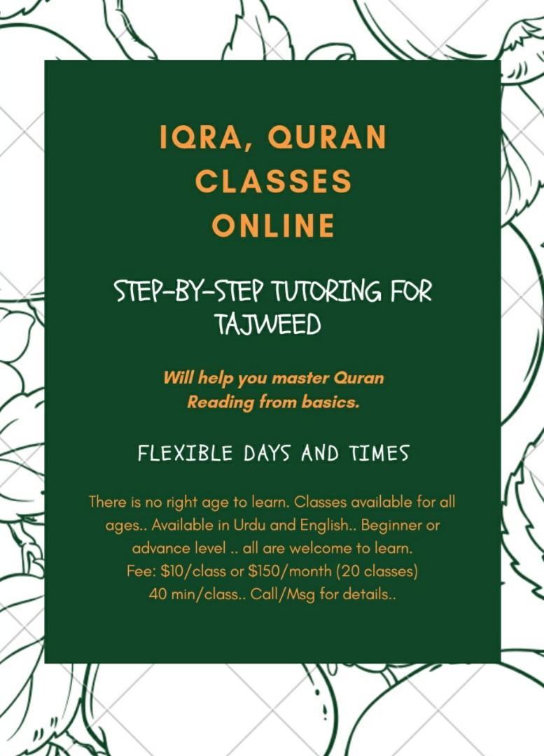 Iqra, Quran classes