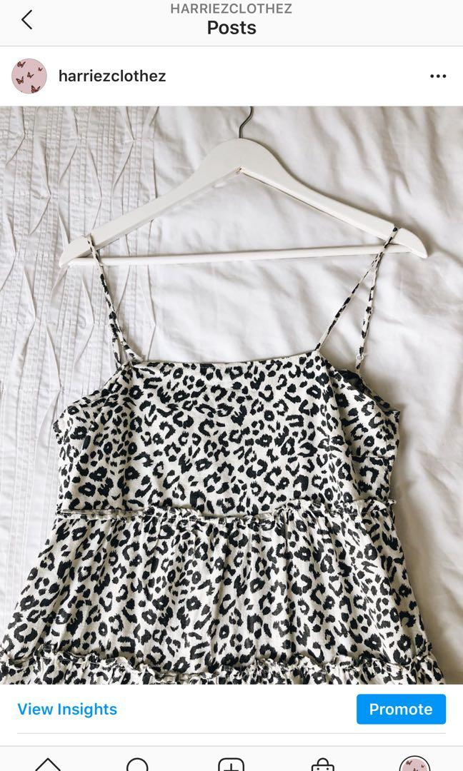 leopard print glassons dress
