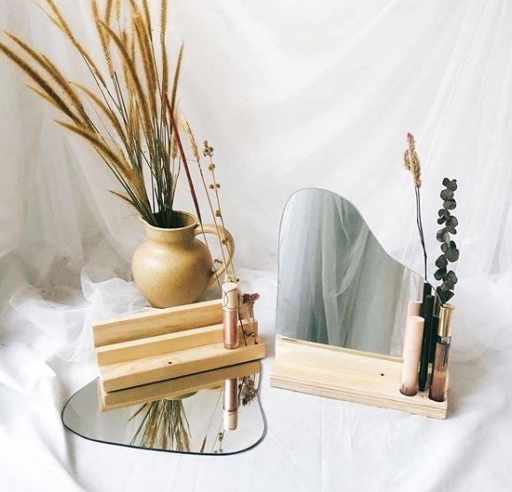 Aesthetic Korean Irregular Mirror - Cermin Aesthetic