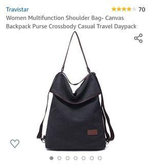 New Multi-fuctional Canvas Messenger Bag/Backpack