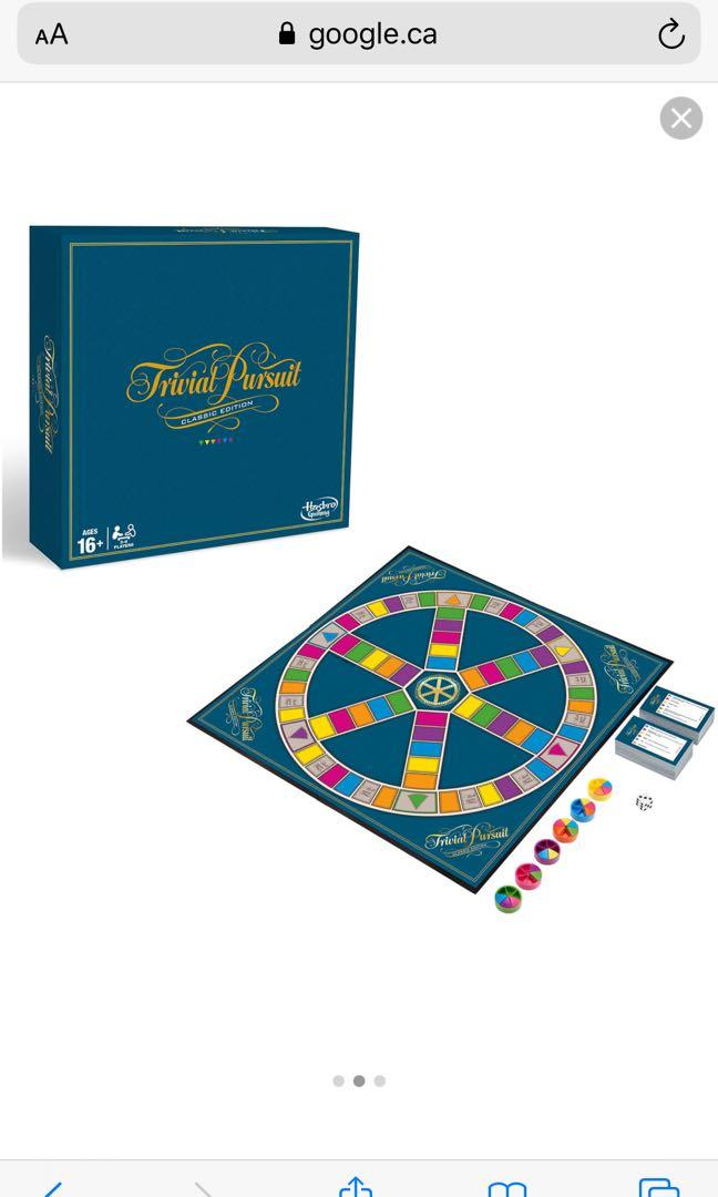 New trivial pursuits board game genus edition