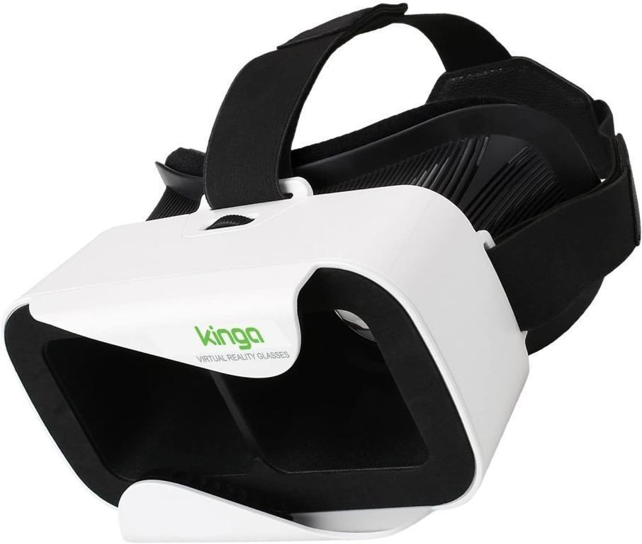 Ojli6 Kinga Vr Glasses Vr Headset Virtual Reality For Smartphone Screen Of 4 7 6 0 Inches Support Android Win And Ios Suitable For Iphone 11 Pro Iphone Xs Max Iphone 8 8plus 7 7plus Samsung Galaxy Series Electronics Others