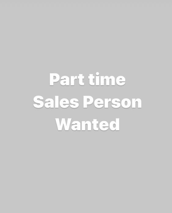 Part time salesman