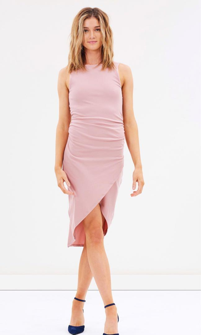 Pink body con dress