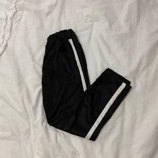 white striped pants w/ pockets