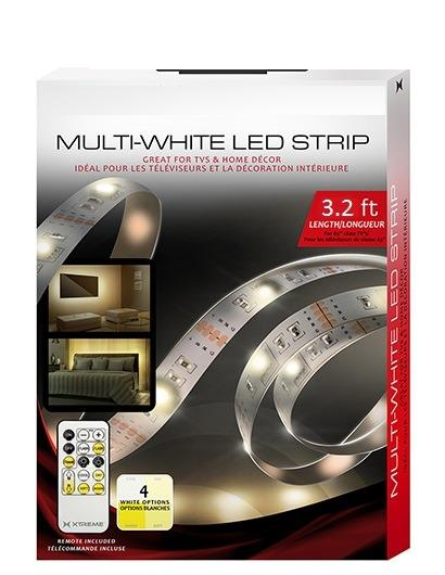 3.2ft Multi-White USB LED Light Strip With Remote Control