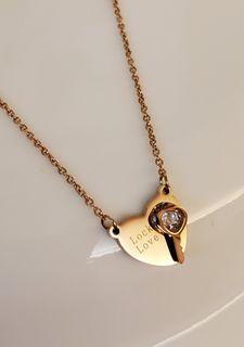 玫瑰金鈦鋼頸鏈 防敏不脫色(包平郵)rose gold titanium steel necklace free postage