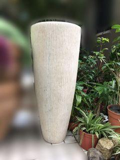 超美厚實乳白色圓長形造景花盆  #造景花器 #園藝造景