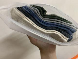 棉質 透氣 吸汗襪子 五色 五雙