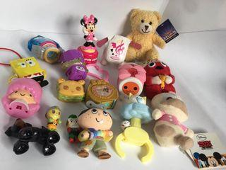 assorted toys and plush set