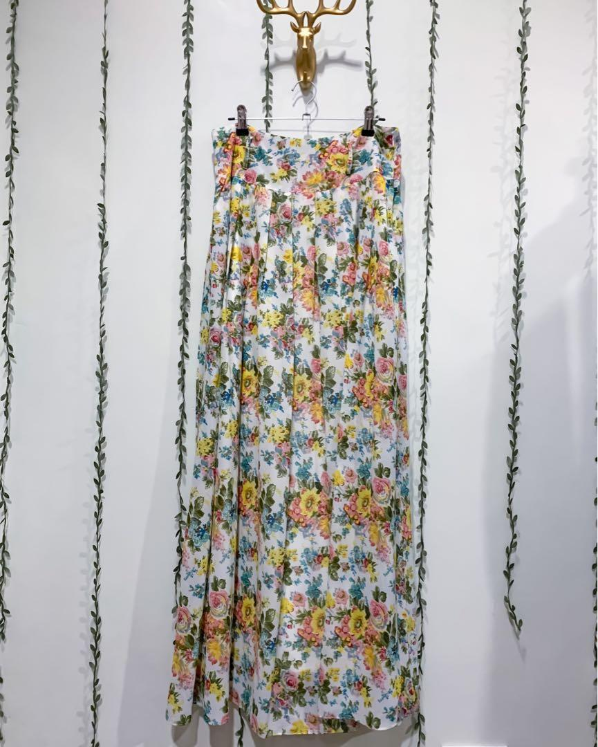 Austin Reed Floral Maxi Skirt Women S Fashion Clothes Dresses Skirts On Carousell