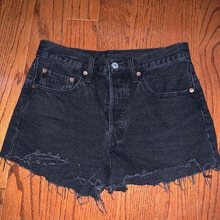black levi's 501 shorts