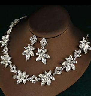 Crystal Necklace and Ear Rings # bridal