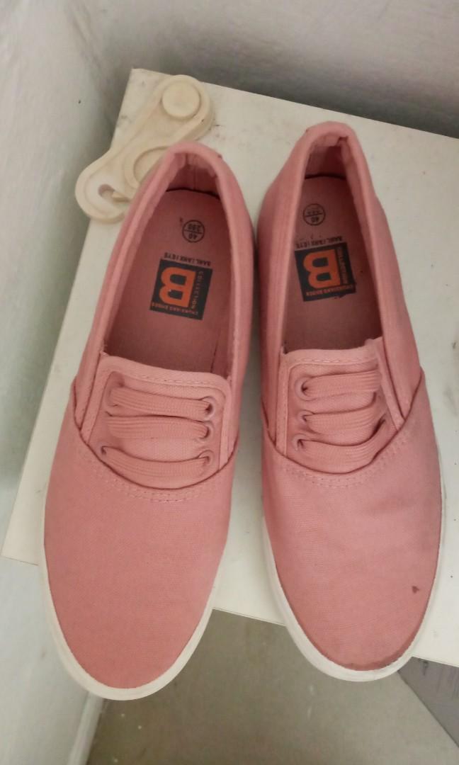 Coral Pink Flats, Women's Fashion