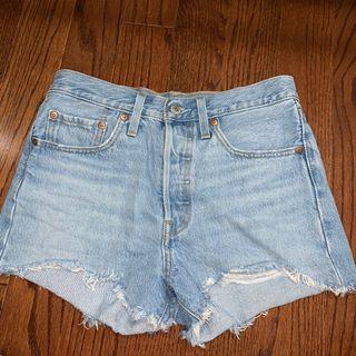 Levi's 501 light denim shorts
