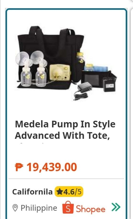 Medela Breast Pump In Style Advanced With Tote Bag Babies Kids