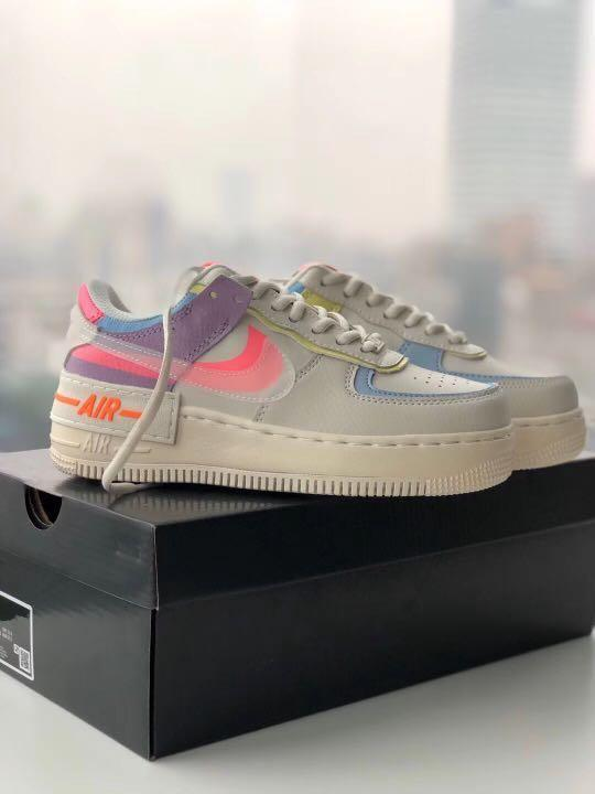 Nike Air Force 1 Shadow Beige Pale Ivory Women S Fashion Shoes Sneakers On Carousell Nike is rolling out a newly designed silhouette titled the air force 1 shadow. sgd