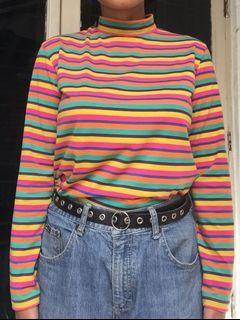 rainbow stripe tee