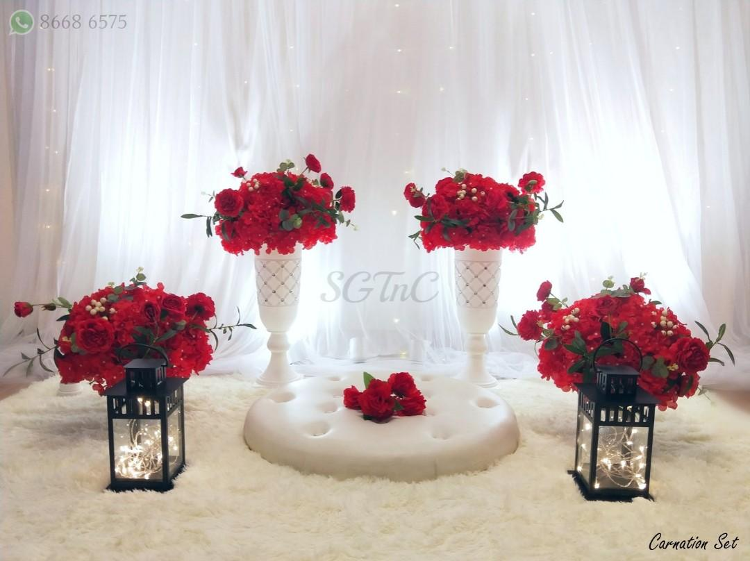 Rent Mini Pelamin Dais Tables and Chairs Rental Sofa Backdrop Bench Cheap Delivery Setup Event Ceremony Wedding Tunang Kahwin Engagement Married Solemnization Decor Decoration Baby Shower Gender Reveal Bangles Dessert Boy Girl Theme Display Celebration 02