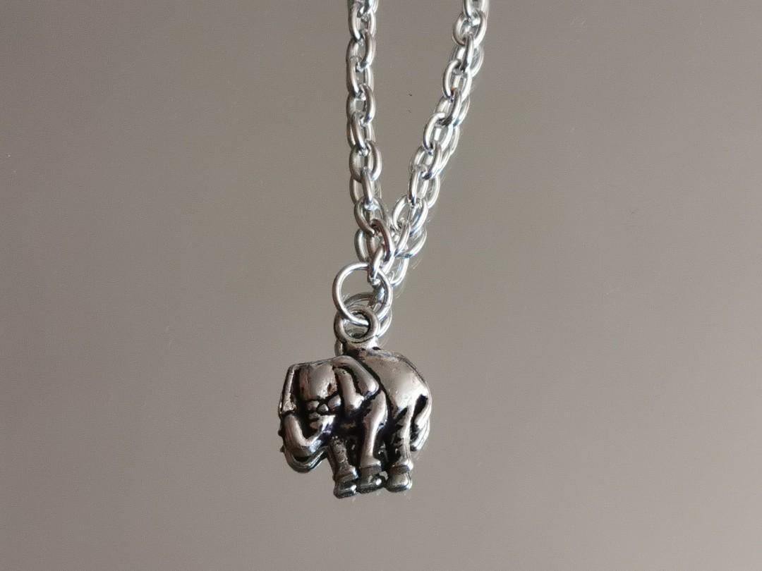Silver Elephant Necklace