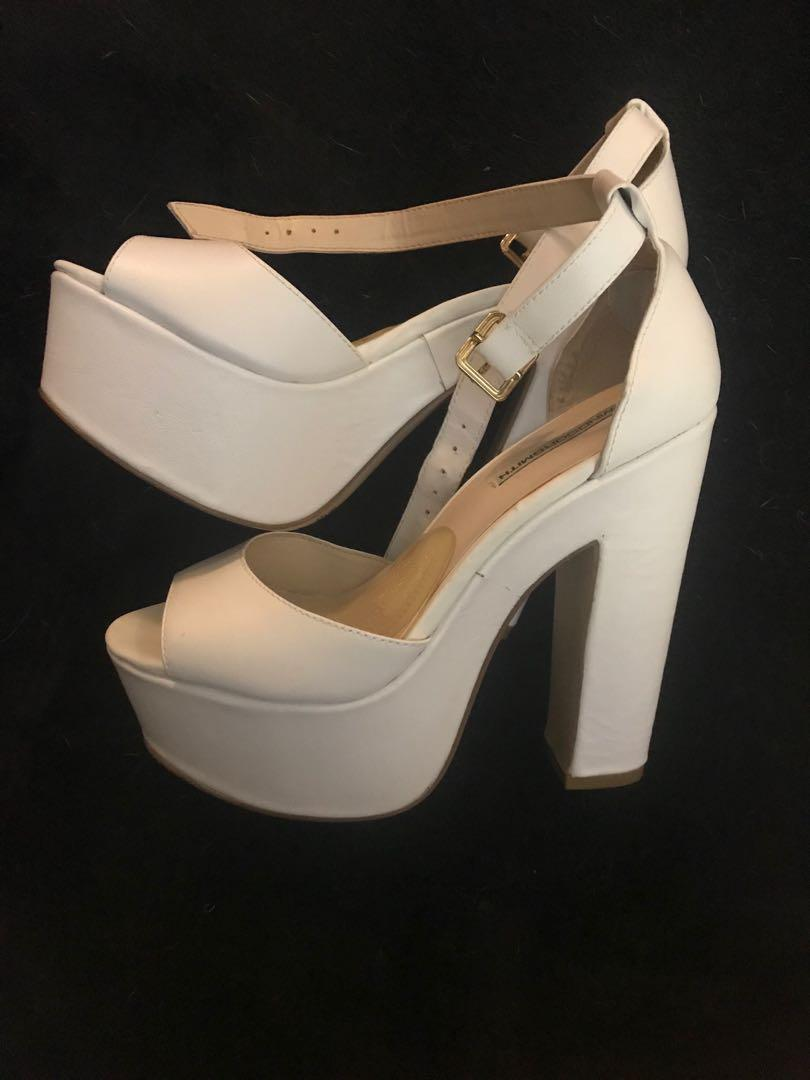 Windsor Smith White Chunky Heels