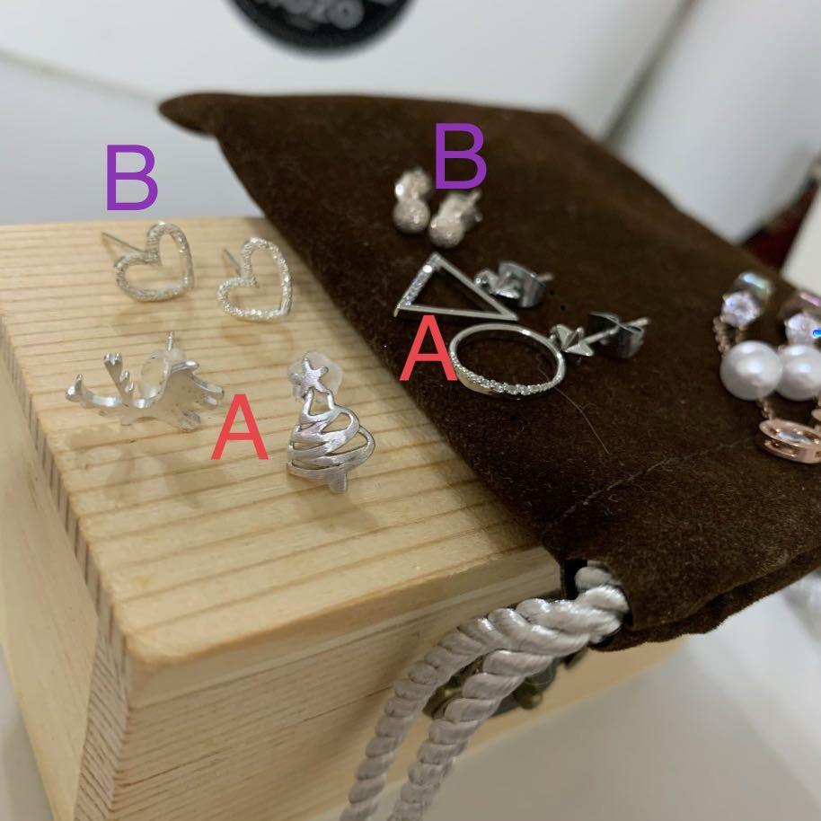 滿額贈品區-純銀925耳環系列