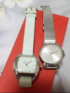 二手石英錶,買一送一,有使用痕跡#MOON
