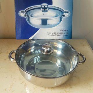 不鏽鋼團圓火鍋 壽喜鍋28公分 不含蓋