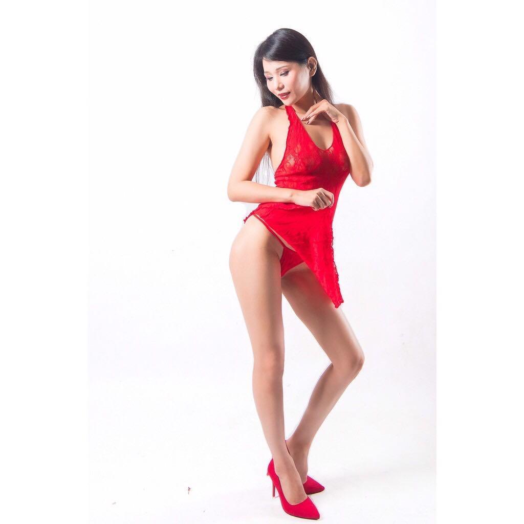 連身 【霓虹幻境】【紅色】【含丁字褲】