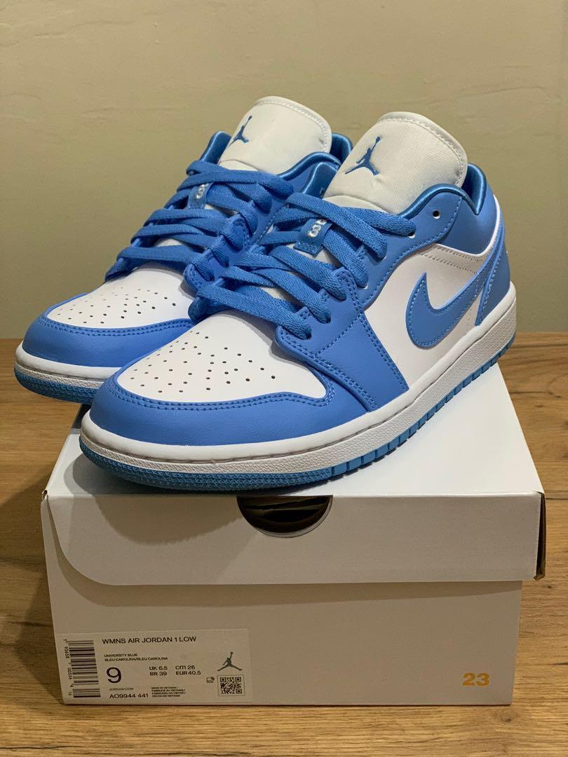 air jordan 1 low unc blue
