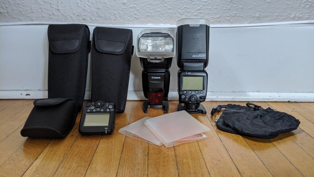 Canon 600 EX RT Speedlight (set of two) & ST-E3-RT transmitter