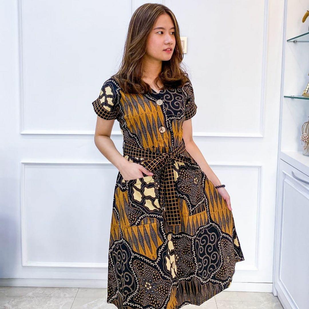 Casual Batik Dress. Unique, Modern Design And Good Quality