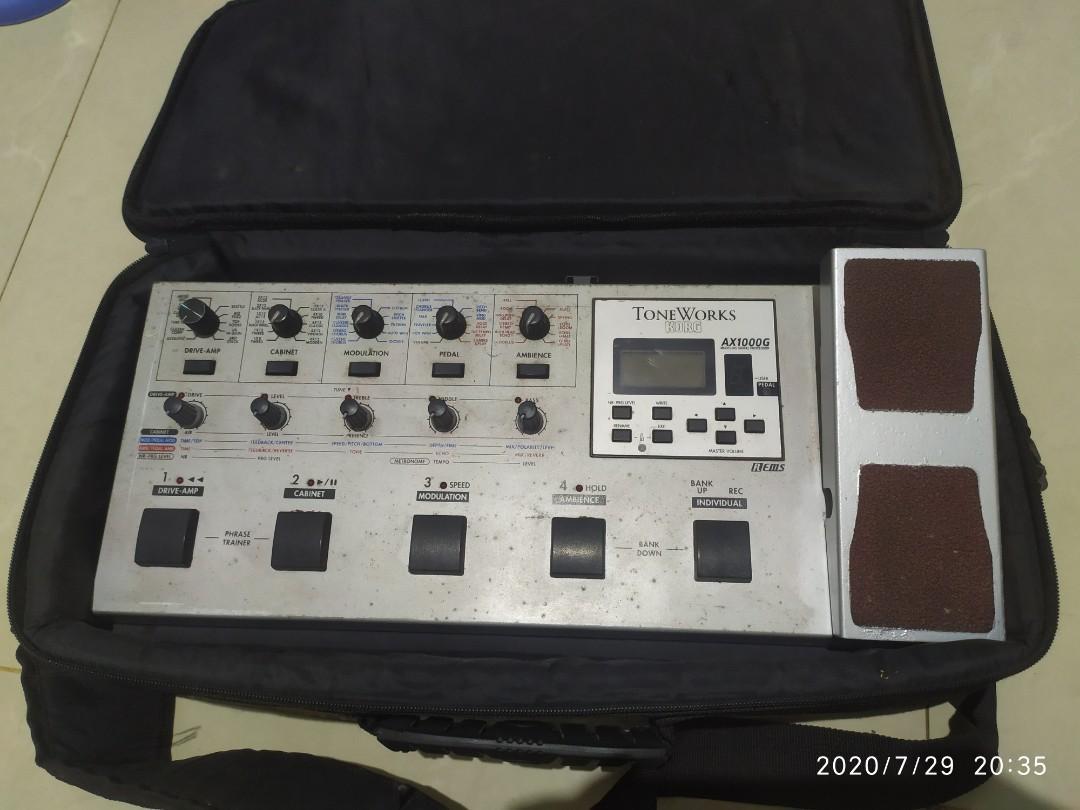 Efek Gitar KORG AX1000G + Softcase + Adaptor Ori