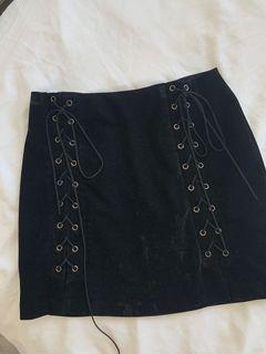 ENDLESS ROSE velvet tie up skirt, small