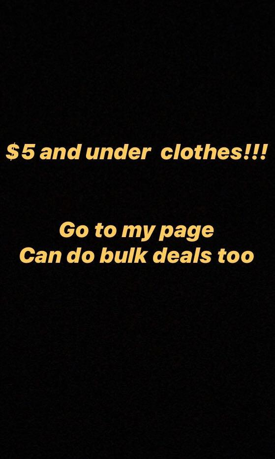 EVERYTHING $5 and under