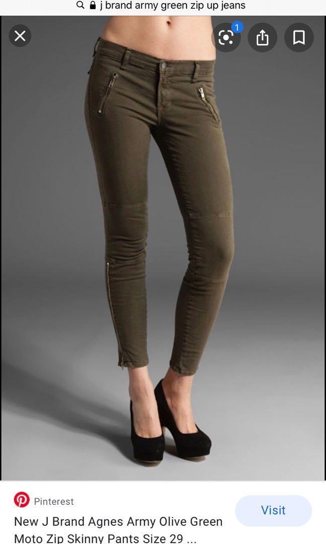 Jbrand Army Green Skinny Denim Size 25