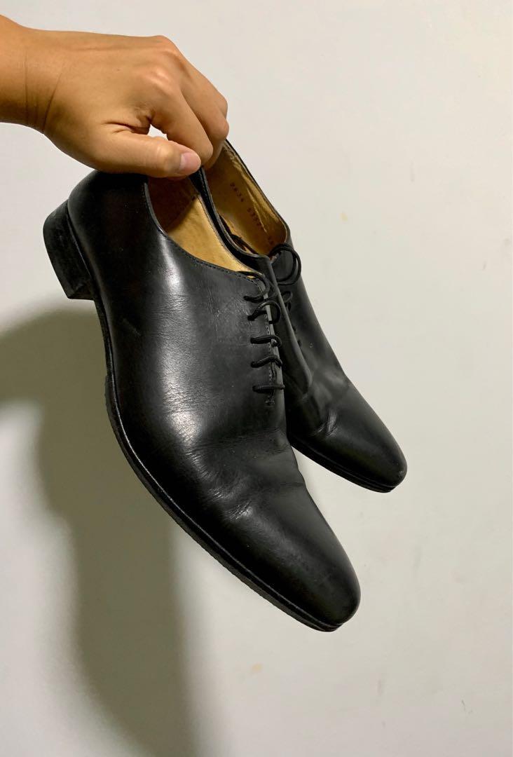 John Mac Gray Formal Black Leather