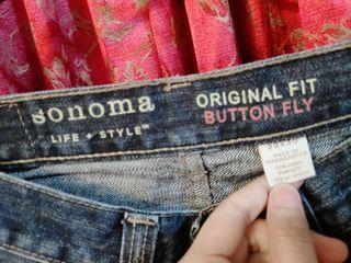 Original Sonoma Original Fit Button Fly Denim Pants