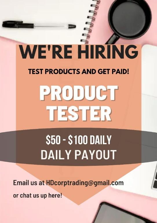 Product Tester - Quality Control